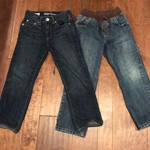 2 pairs of boys jeans. Gap and Gymboree